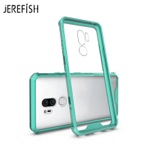 JEREFISH LG G7 Phone Case Shock-Absorption Bumper Style Premium Hybrid Protective Clear Cover