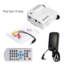 UC28+ Mini Portable HD Projector Home Cinema Theater Upgraded HDMI Interface white