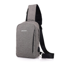SiYing Canvas polyester chest bag USB interface men's shoulder bag