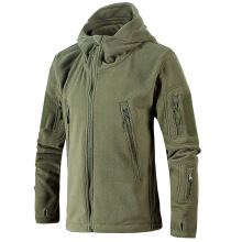 ESG New Military Tactical Outdoor Soft Shell Fleece Jacket Men Army Sportswear Thermal Hunt Hiking Sport Hoodie Jackets Green L
