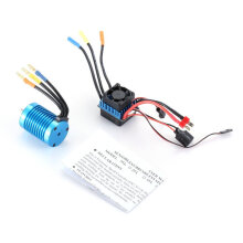 COZIME F540 4370KV Sensorless Brushless Motor with 45A ESC Combo Set for 1/10 RC Car Blue