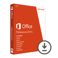 Microsoft Office 2016 Professional License 1 PC Boxed