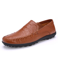 Zanzea US Size 6.5-11.5 Men Leather Flat Casual Soft Outdoor Breathable Flats Loafers Shoes