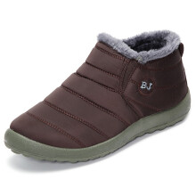 Zanzea 0051BJ Shoes Men Winter Cotton  Fur Lining Keep Warm Casual Snow Boots Coffee