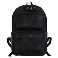 Douguyan PU Leather Backpack Casual School College Bag Book Bags Laptop Daypack Rucksack for Men and Women with USB and Earphone