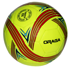 Oraga Defense No. 4 Bola Sepak  - Neon Lime / Red / Navy 4