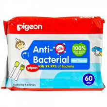 Pigeon Anti Bacterial Baby Wet Tissue 60 Sheets