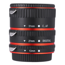 Auto Focus Macro Metal Extension Tube for Canon EF EF - S Lens  - Red