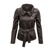 Pre-Owned Gucci Wrap Around Leather Jacket