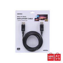 Miniso Official Display Port Cable Female to Female 1.8m (Black) (05MN-0410)