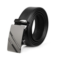 Keness Leather automatic buckle belt men's leather belt alloy buckle pants with casual business