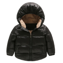Anamode Kids Hooded Duck Down Jacket Winter Coats Pocket Jacket -Black