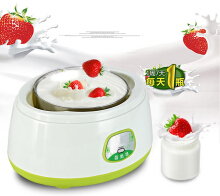 Jantens Household Fully Automatic Yogurt Machine Stainless Steel Tank Liner Rice Wine Natto Yogurt Makers Green