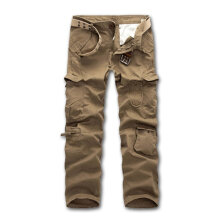 Casual Loose Men Full Length Cargo Pants with Multi-Pockets For Winter Autumn 32