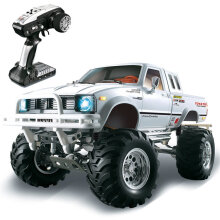 JDWonderfulHouse HG P407 1/10 2.4G 4WD Rally Rc Car for TOYATO Metal 4X4 Pickup Truck Rock Crawler RTR Toy