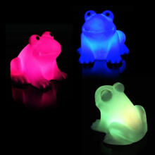 Farfi Energy Magic LED Frog Night Light Lamp Changing Colors Lamp as the pictures