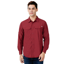 COLUMBIA Silver Ridge Long Sleeve Shirt - Red Element
