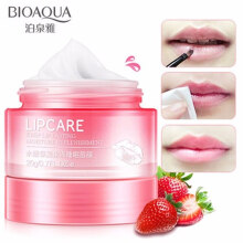 Bioaqua Lip Sleeping Mask Special Lip Balm Care Masker Bibir Strawberry - 20 gr