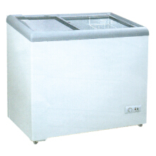 GEA SD - 186 Sliding Flat Glass Freezer [186 Liter] White