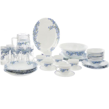 ARCOPAL Decor Aliya Blue Dinner Set of 45