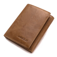 BESTIELADY 850 Tri-fold Genuine Leather Wallet