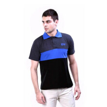 G-SHOP - MEN POLO SHIRT KAOS WANGKI DISTRO PRIA - YON 0799 - HITAM SIZE- S