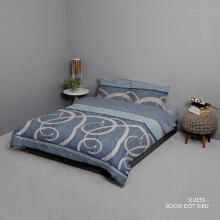 KING RABBIT Bedcover & Set Sprei Sarung Bantal Extra King Motif Guess - Biru / 200x200x40cm Blue