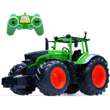 Jantens RC Truck Farm Tractor 2.4G Remote Control Trailer Dump/Rake 4 Wheel Tractor Engineer Vehicle Tractor Model Green
