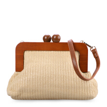 VOITTO Straw Clutch Y8012 - Beige