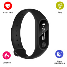 SANDA M2 Smart Band Bluetooth Bracelet Heart Rate Monitor Pedometer Watch For xiaomi Samsung iPhone Hitam