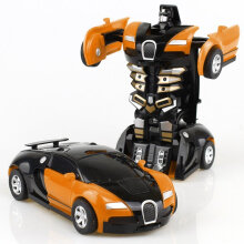 [COZIME] Transformation Toy Car Anime Action Figure Toys Collision Transforming Model Yellow1