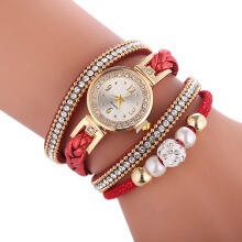jam tangan wanita fashion leather band bracelet jam daimond luxury retro jam tangan cewek