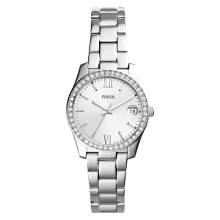 Fossil Scarlette Crystal Ladies White Dial Stainless Steel Strap [ES4317]