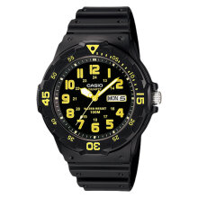 Casio MRW-200H-9BVDF Water Resistant 100M Resin Band [MRW-200H-9BVDF] - Black