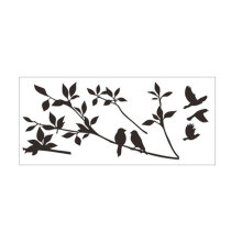 [kingstore] Cute Removable Tree Branch Wall Sticker Children Room Decal Home Decoration Black