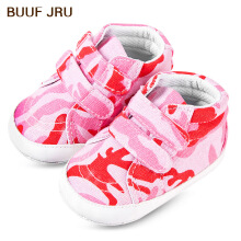 Aosen  BUUF JRU Newborn Baby Camouflage Canvas Hook and Loop Toddler Shoes