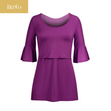 BLINGO Sleeve Nursing Maternity Tops For Pregnant Women Tee Breastfeeding Clothes Pregnancy Tops Feeding Lactation