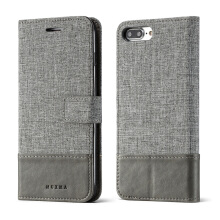 DELIVE For iphone 7 plus/8 plus Case Canvas Stitching Leather Cover For Apple
