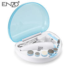 ENZO EN - 771 Cordless Electric Nail Drill Rotary Tool Interchangeable Tips ROBIN EGG BLUE