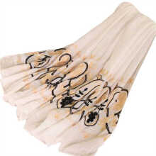 LAVEN ethnic style cotton embroidery flower women's long scarf