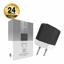 VIDVIE 2 USB Port Micro Charger PLE203 (USB Cable Included-Micro)