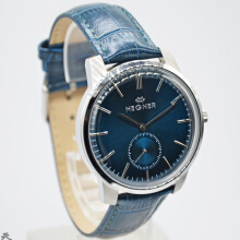Hegner Jam Tangan Wanita -D40H322H1637 Small Second-1MS -Analog-Leather Strap-Navy Full Blue