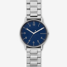 Skagen Signatur - Blue Round Dial 40mm - Stainless Steel - Silver - Jam Tangan Pria - SKW6357 - SL
