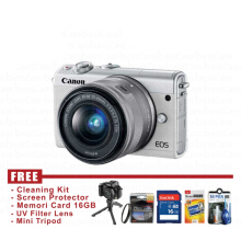 Canon EOS M100 Kit 15-45 IS STM - Putih