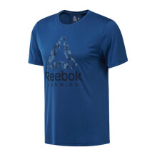 REEBOK Run Graphic Tee - Bunker Blue F18-R