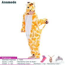 Anamode Kids Cartoon Clothes Parent-Child Homewear Siamese Pajamas Suit -Fawn -