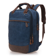 Jantens  Factory direct foreign trade trend of casual canvas bag man bag computer backpack student leisure shoulder bags