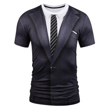Fashionmall Men's short 3D Print  T-shirt
