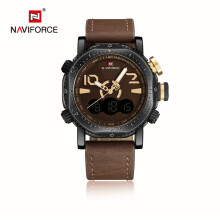 Naviforce 9094 Sport Men Watch LED Digital Analog Electronic Quartz Watches Waterproof Male Clock Relogio Masculino Calendar