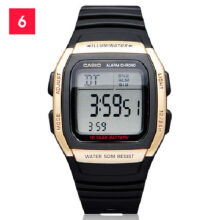 Casio W-96H-9A Sports waterproof electronic watch-Black&Golden